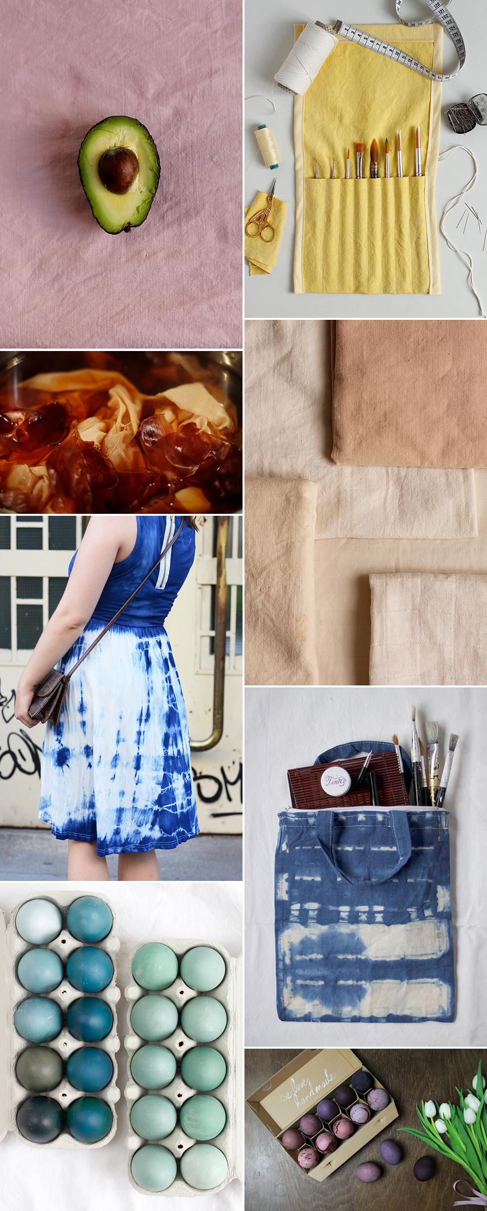DIY: Stoff und Eier mit natürlichen Materialien färben | we love handmade