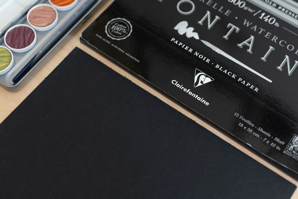 Clairefontaine Aquarellpapier Schwarz | we love handmade