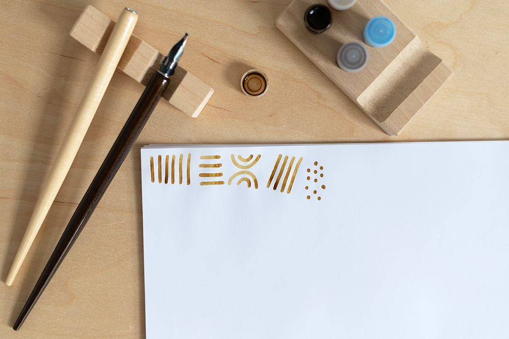Kalligraphie-Zubehör: Tinte Gelb | we love handmade