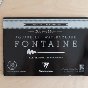 Watercolour Clairefontaine Black Paper | we love handmade