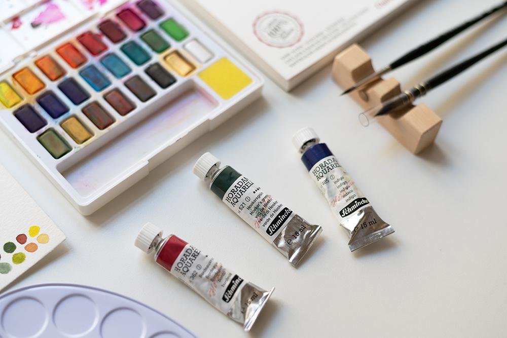 Aquarellmaterialien für Beginner | we love handmade