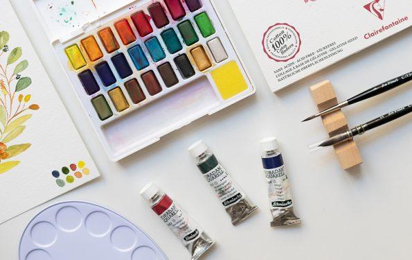 Aquarellmaterialien: Unsere Tipps | we love handmade