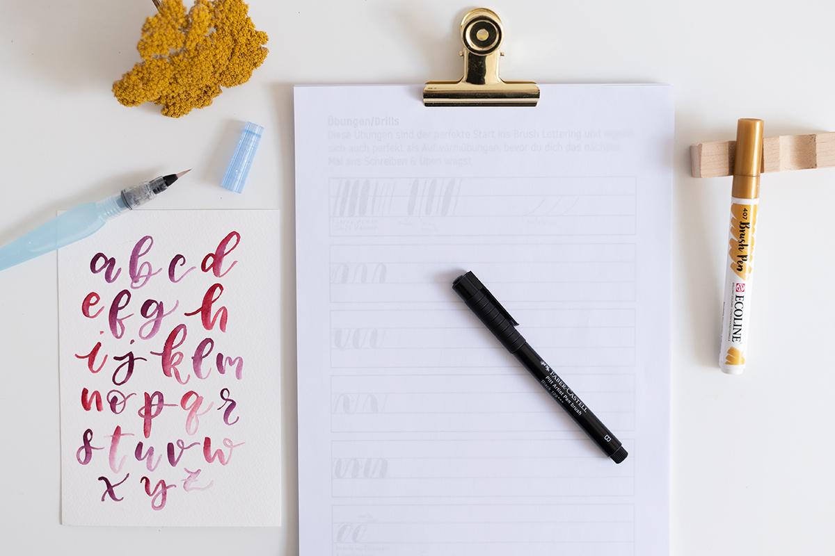 Brush Lettering Onlinekurs Wien | we love handmade