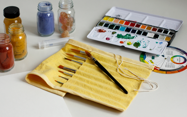 DIY: Pinselaufbewahrung nähen | we love handmade