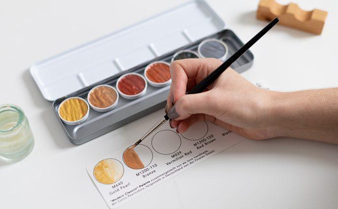 Aquarellfarben: Farbkarte mit Coliro Pearlcolors | we love handmade
