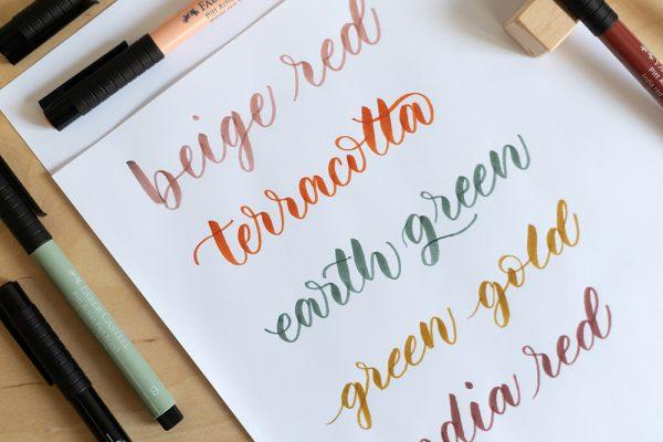 Brush Lettering: Faber-Castell Brush Pen | we love handmade