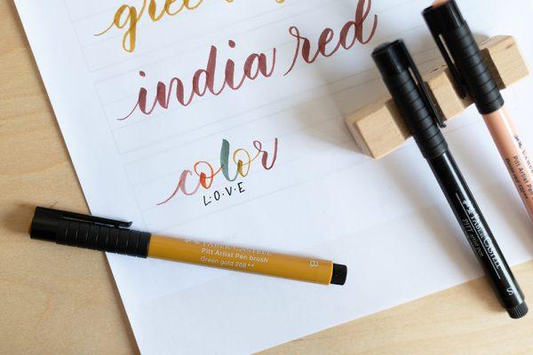 Brush Pen für Anfänger | we love handmade