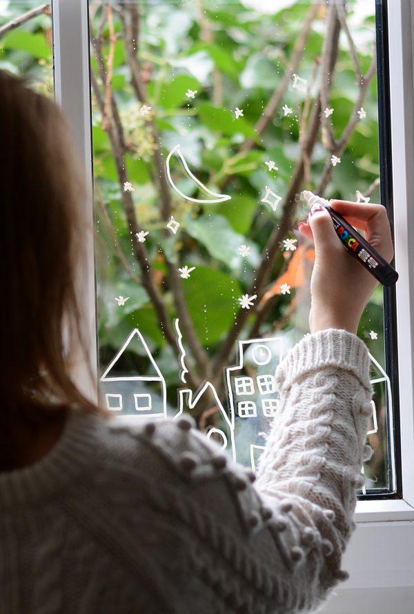 Fenster bemalen: Häuser | we love handmade