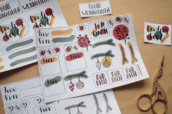 Weihnachtliches Stickerset | we love handmade