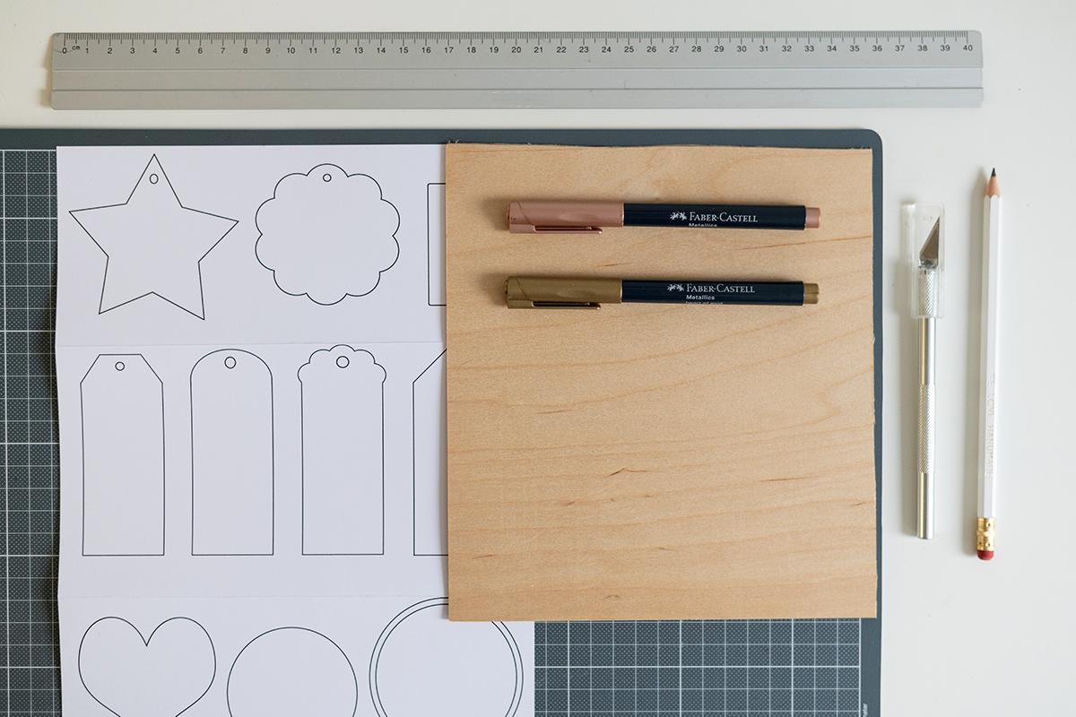 Holz-Geschenkanhänger: DIY-Material | we love handmade