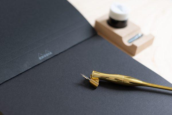 Rhodia Schreibblock liniert und schwarz | we love handmade