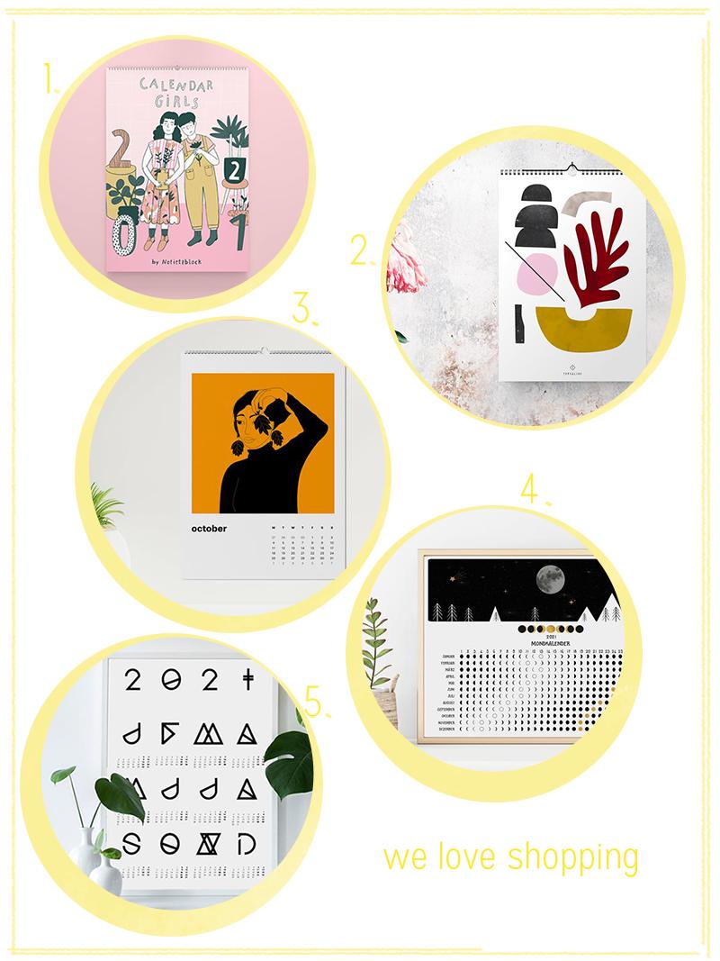 we love Shopping: Wandkalender 2021 | we love handmade