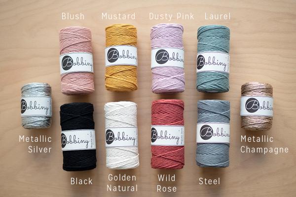 Bobbiny: Farbauswahl für Makrameegarn | we love handmade