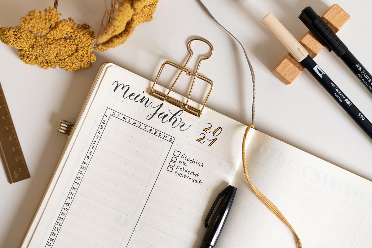 Bullet Journaling: Jahr in Pixel | we love handmade