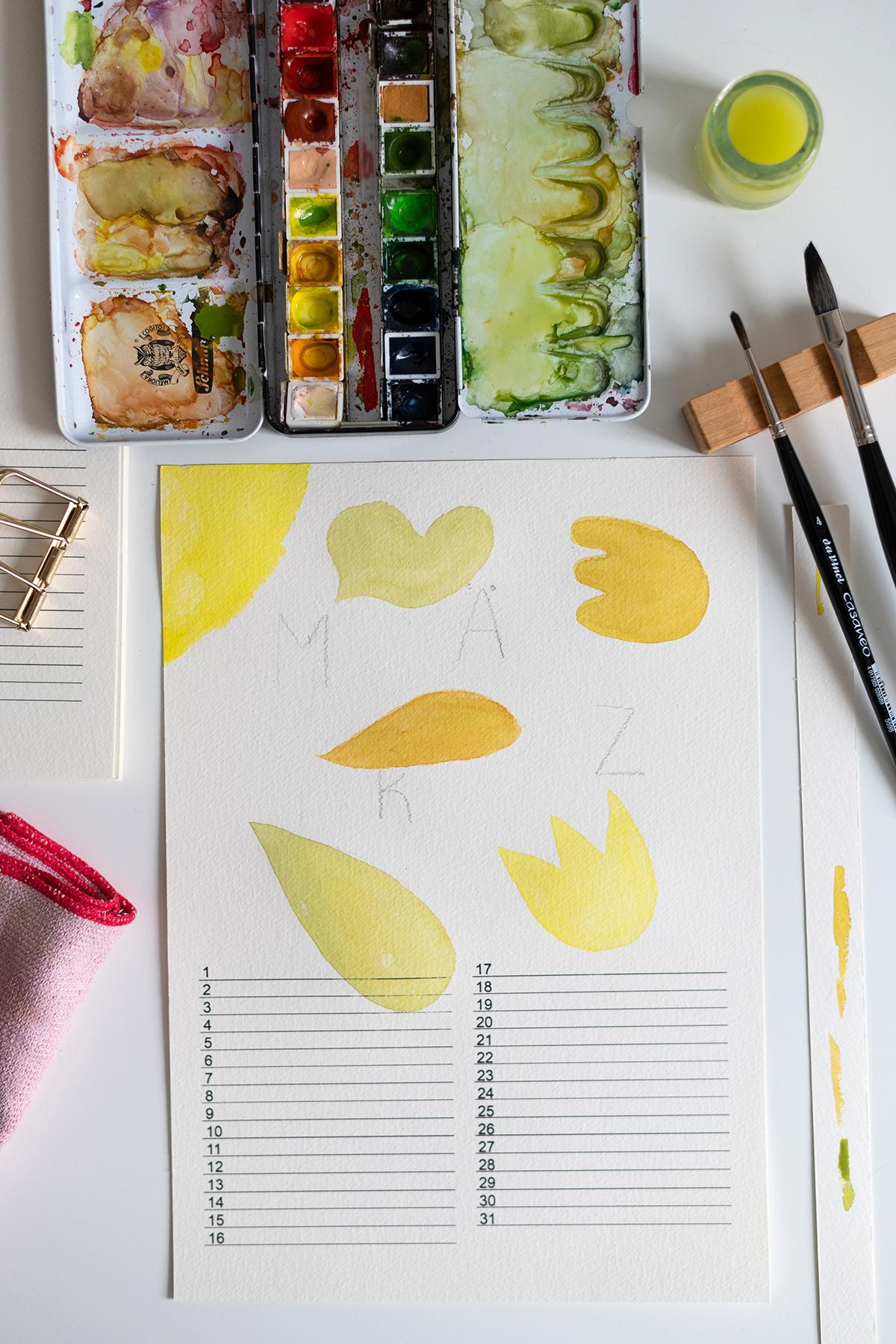 DIY: Abstrakter Wandkalender   we love handmade