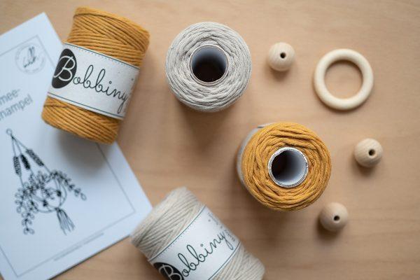 Makramee-Garn Senfgelb von Bobbiny | we love handmade