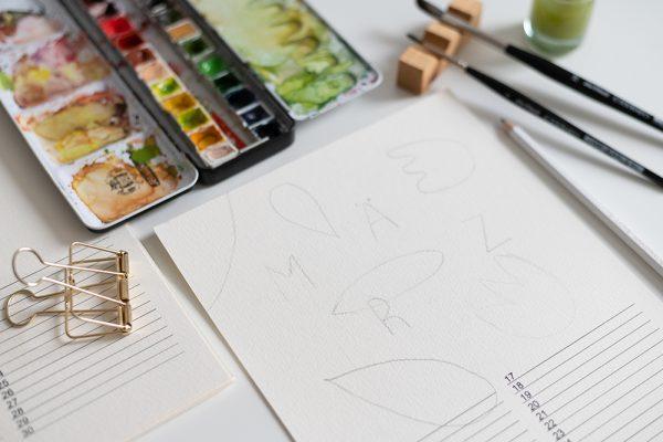Minimalistischer Wandkalender DIY | we love handmade