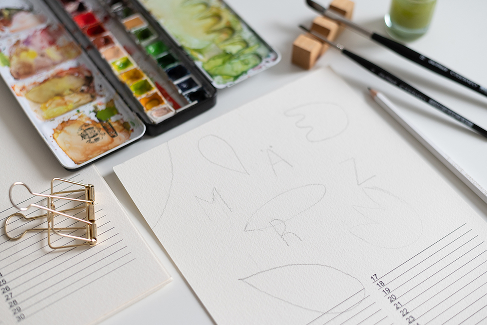 Minimalistischer Wandkalender DIY   we love handmade