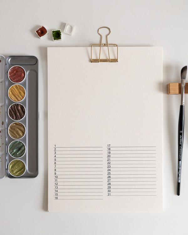 Wandkalender kreativ gestalten | we love handmade