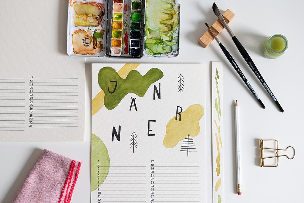 Wandkalender selber machen   we love handmade