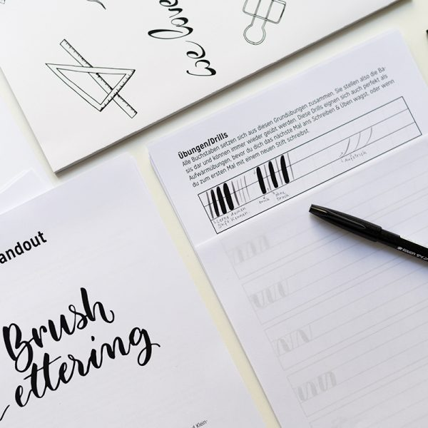 Brush Lettering Craft Kit | we love handmade
