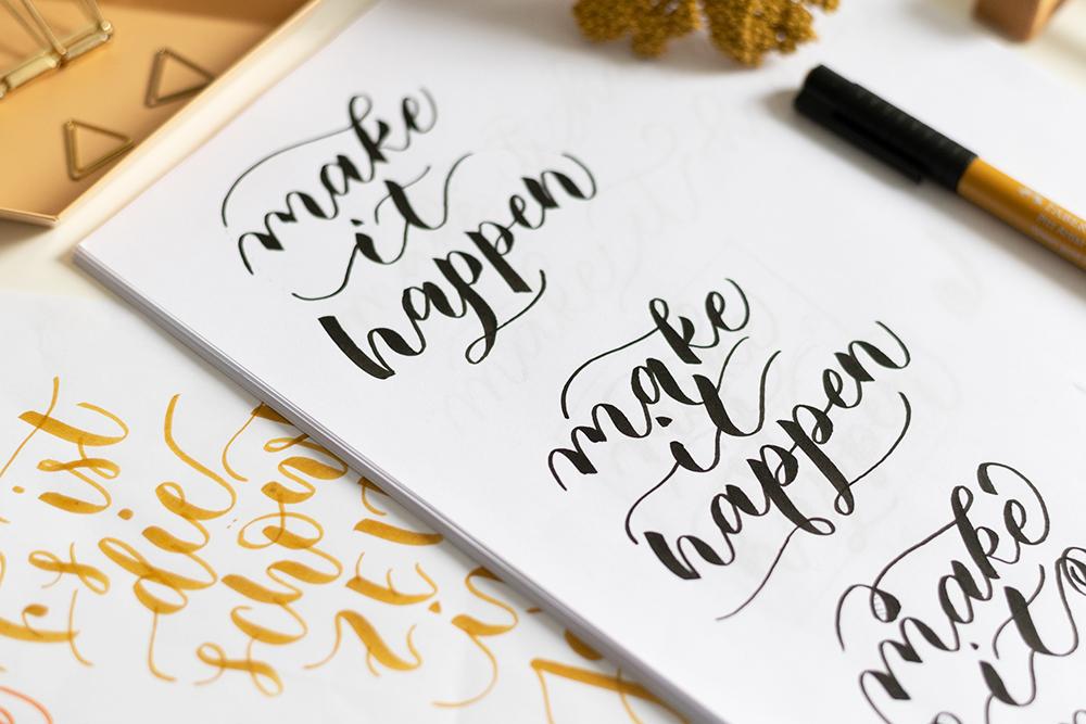 Brush Lettering Variationen | we love handmade