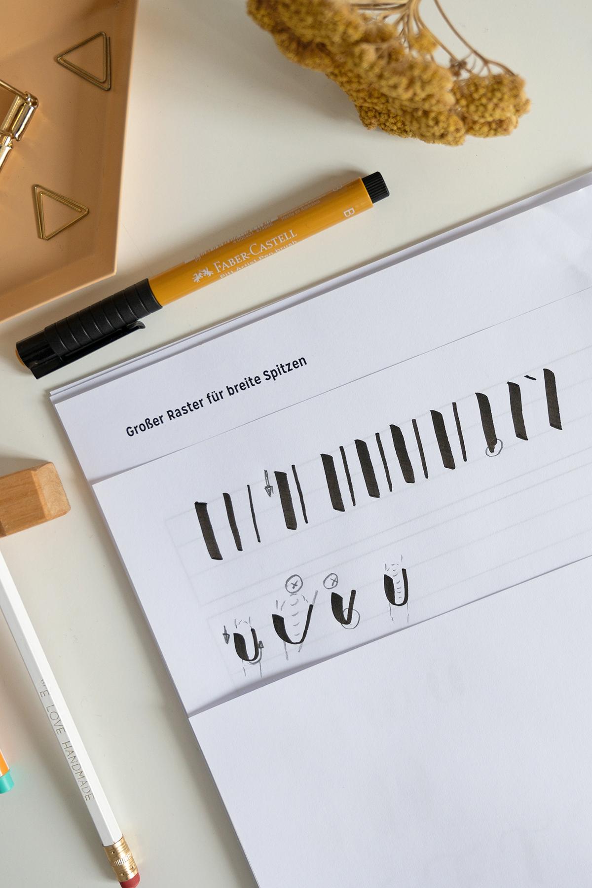 Brush Lettering lernen: Workshop | we love handmade