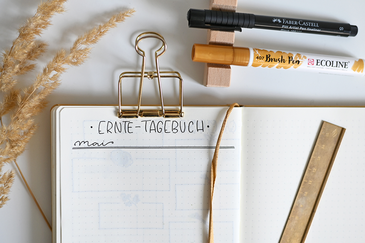 Bujo: Ernte-Tagebuch   we love handmade