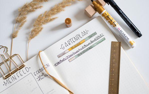 Bullet Journal Gartenplaner | we love handmade