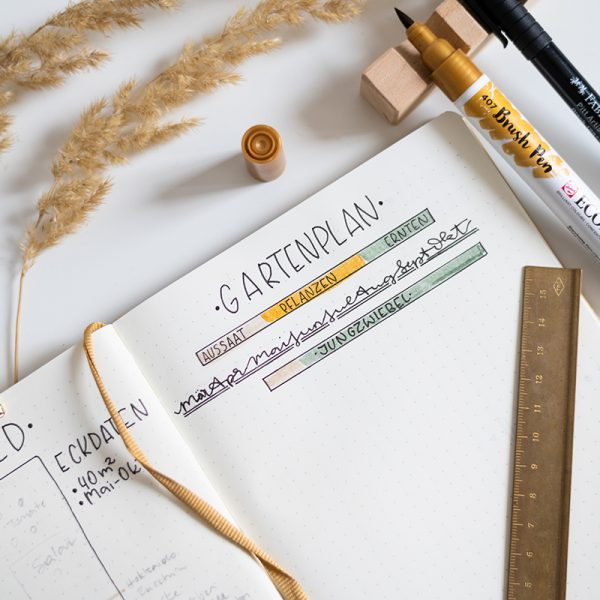 Bullet Journal Gartenplaner | we love handmade