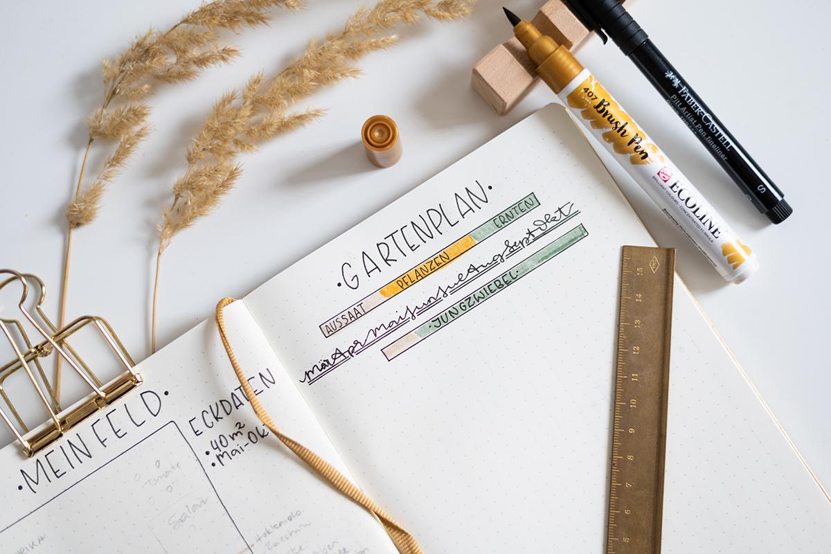 Bullet Journal Gartenplaner   we love handmade
