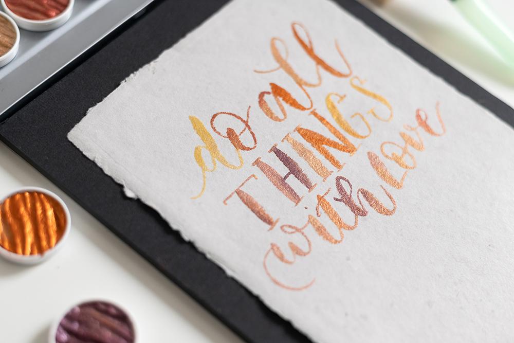 Coliro Pearlcolors: Lettering mit Farbverlauf | we love handmade