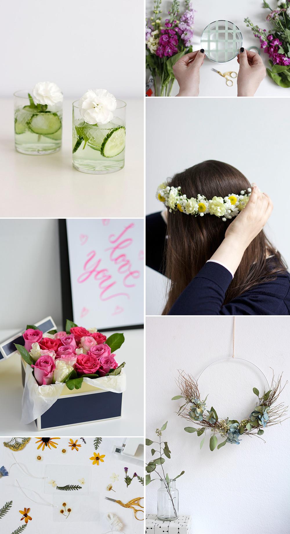 Inspiration: DIYs mit Blumen gestalten | we love handmade