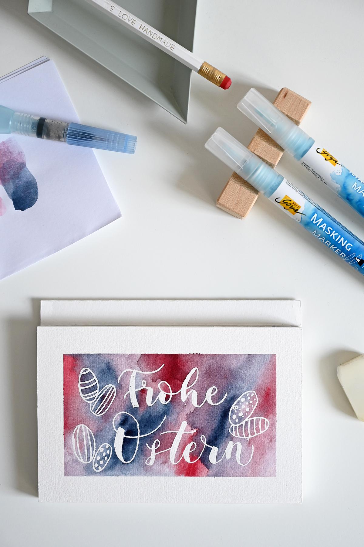 DIY: Grußkarte für Ostern - Aquarell | we love handmade