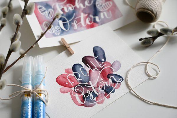 Osterkarte: DIY-Tutorial mit Aquarellmalerei   we love handmade