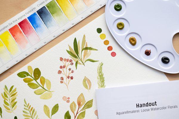 Aquarellmalerei: Beispiele für Craft Kit   we love handmade