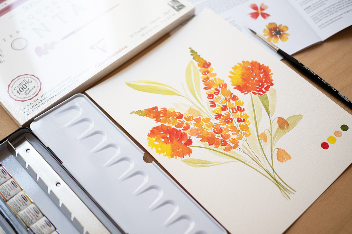 "Aquarellmalerei: Craft Kit ""Watercolor Florals"" | we love handmade"