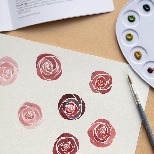 Aquarellmalerei: Rosen | we love handmade