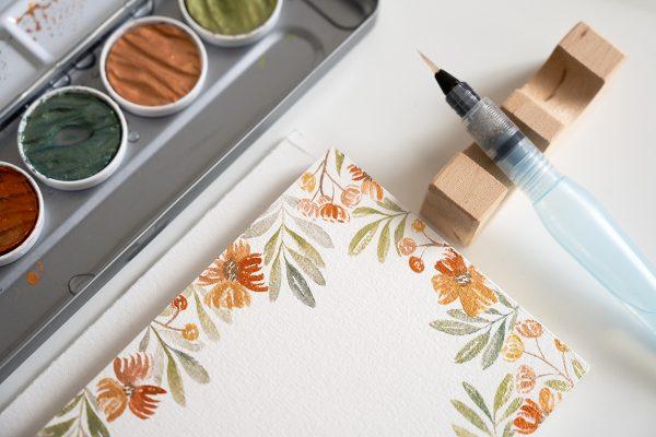 Coliro Watercolor Florals: Rahmen | we love handmade