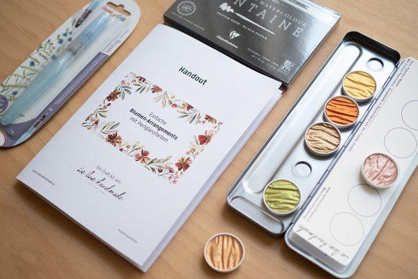 Craft Kit Perlglanzfarben Aquarellblumen | we love handmade
