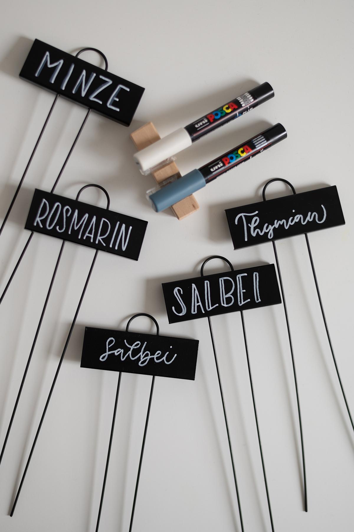 DIY: Lettering - Pflanzenstecker | we love handmade