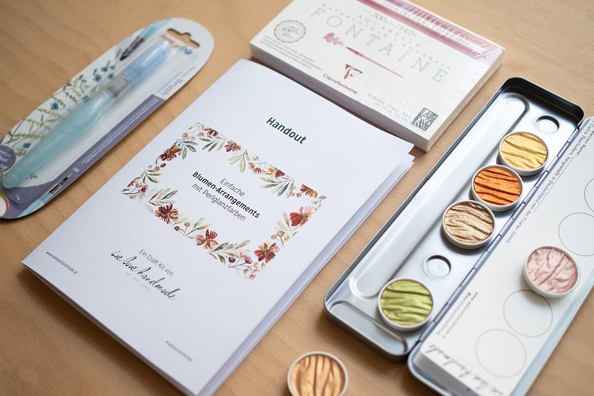 Loose Watercolor Florals: Coliro-Craft-Kit | we love handmade