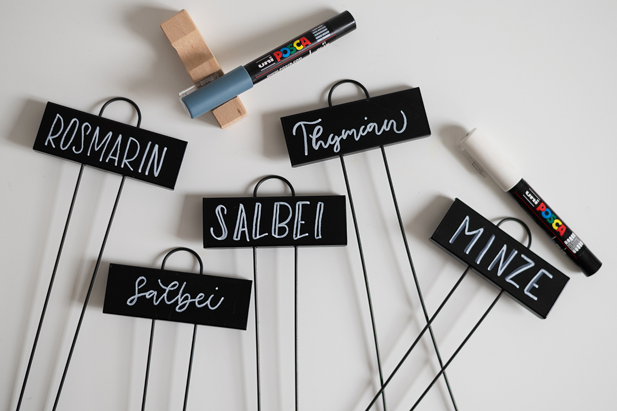 Pflanzenstecker beschriften - Lettering-DIY | we love handmade