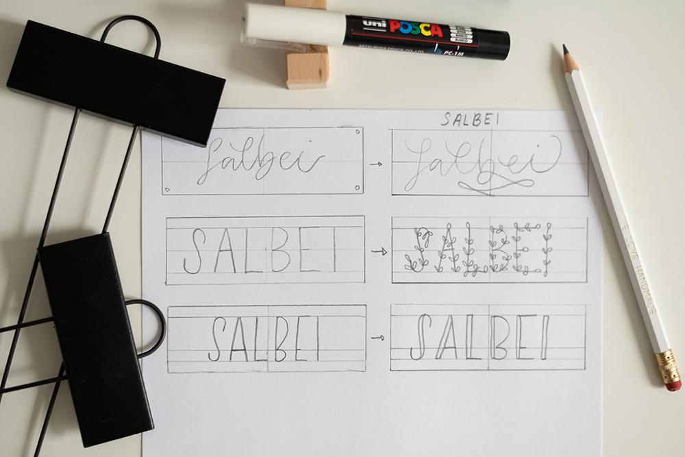 Pflanzenstecker beschriften - Letterings | we love handmade