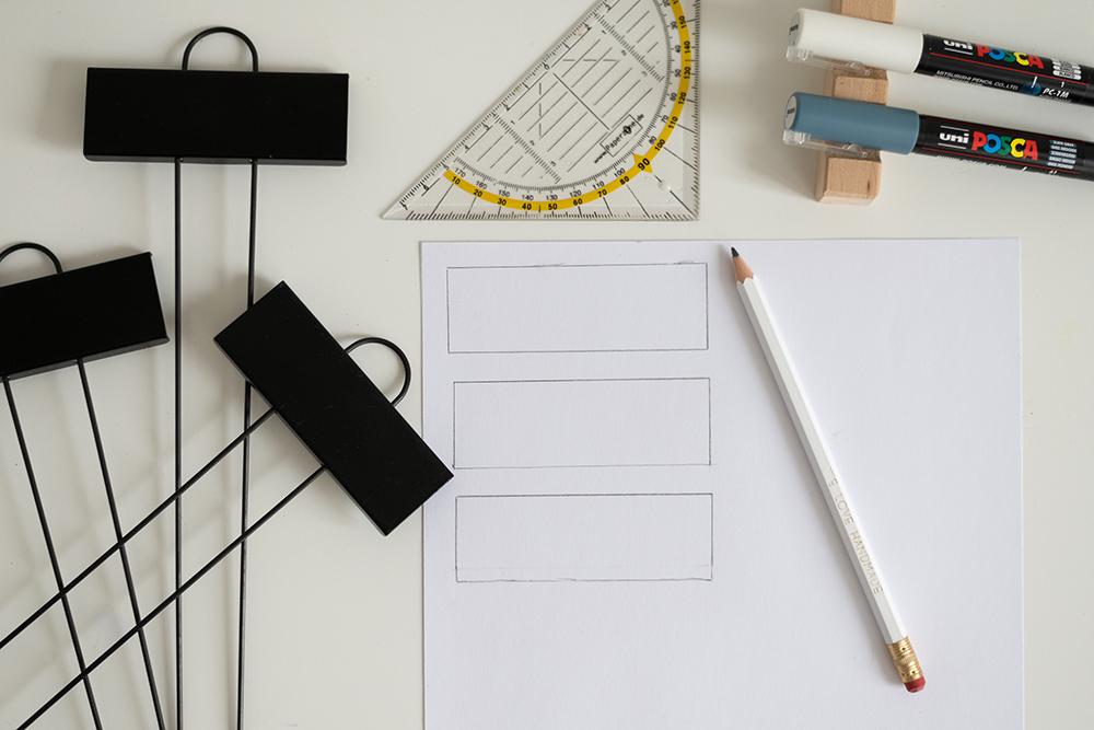 Pflanzenstecker beschriften: Skizze | we love handmade