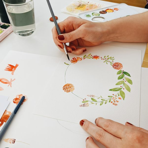 Watercolor Florals: DIY-Workshop in Wien | we love handmade