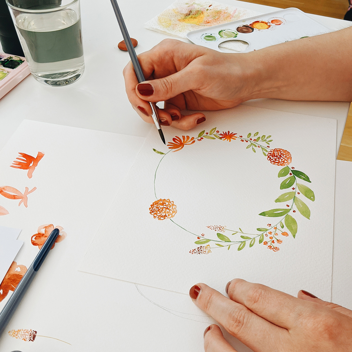 Watercolor Florals: DIY-Workshop in Wien   we love handmade