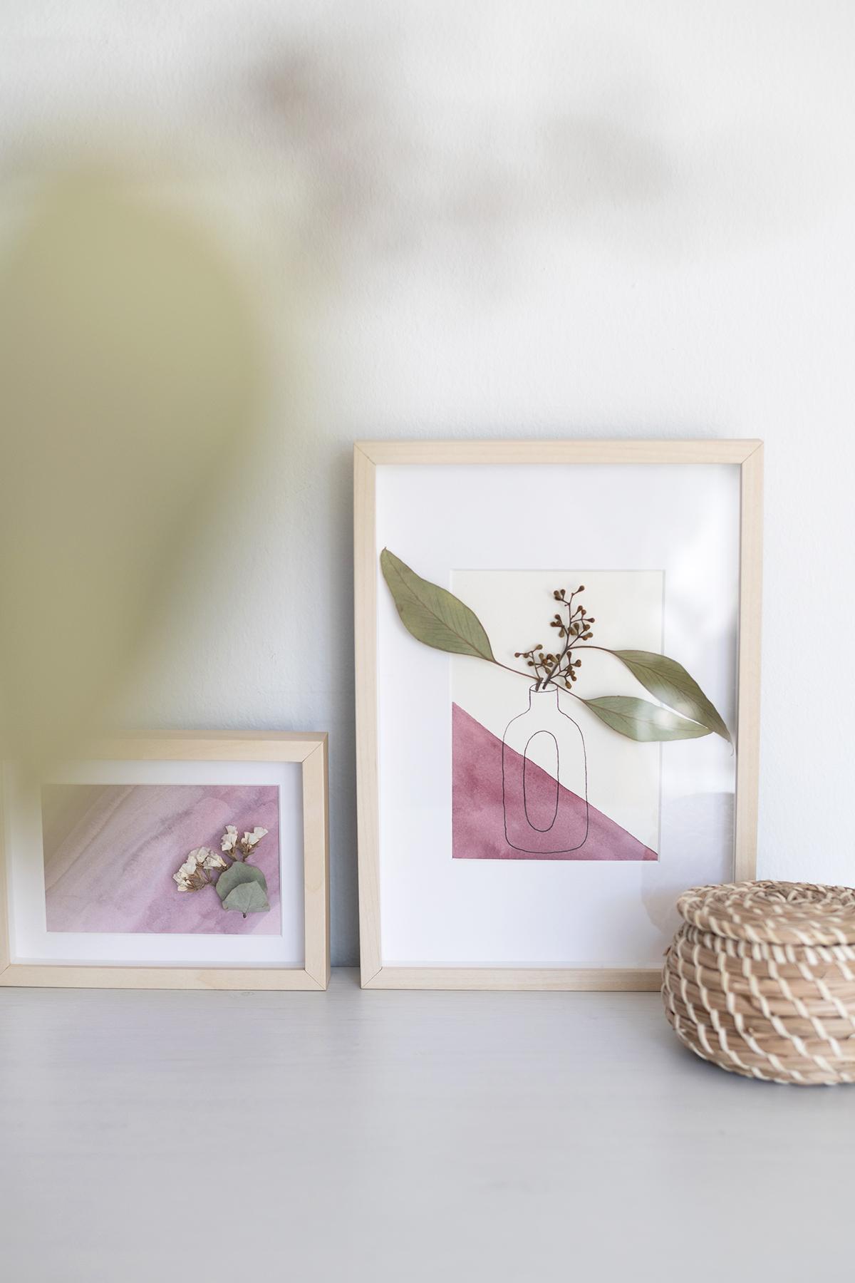 DIY: Trockenblumen-Bilder fertig | we love handmade