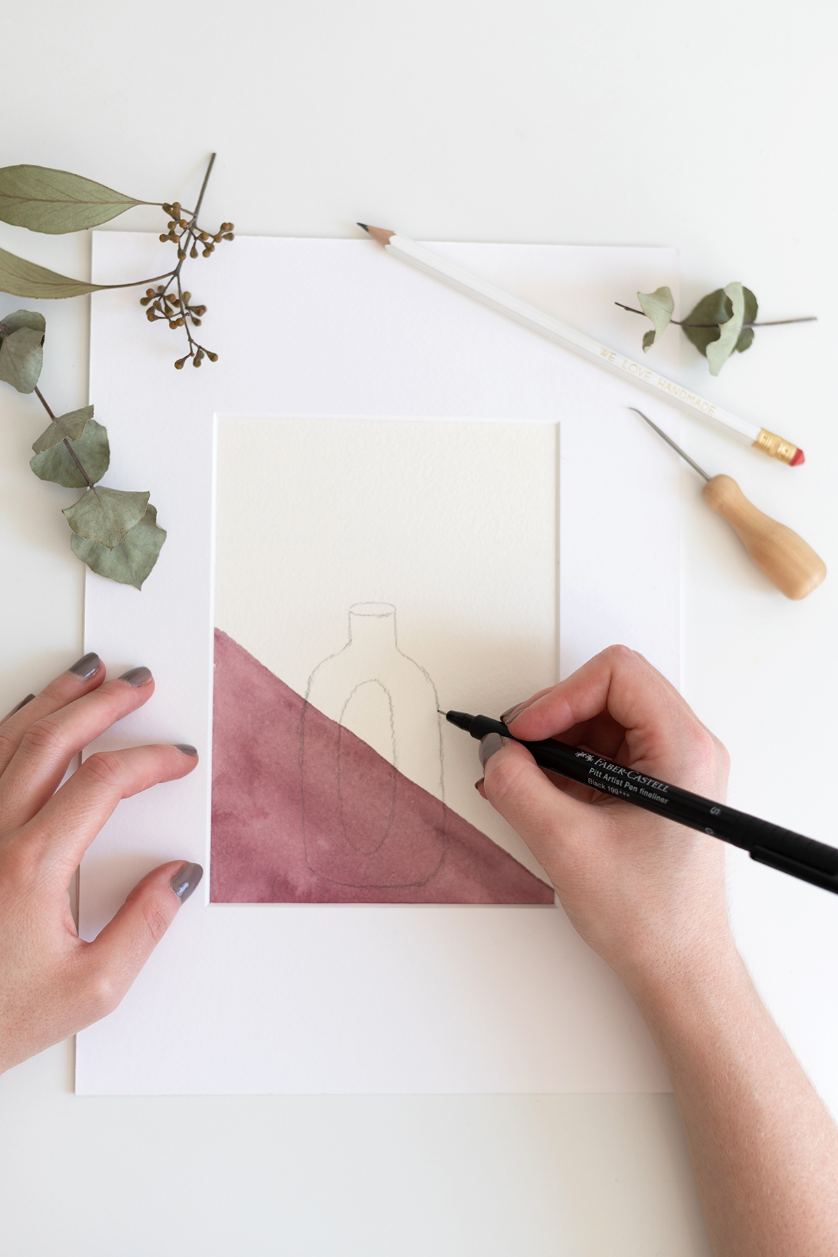 Illustrierte Vase | we love handmade
