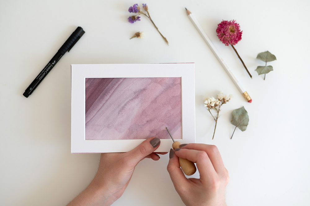 Trockenblumen-Bild mit Aquarell | we love handmade